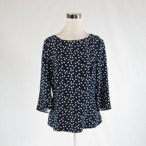 Navy blue BODEN 3/4 sleeve blouse 8